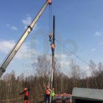 Демонтаж и перемещение дымоходной трубы
